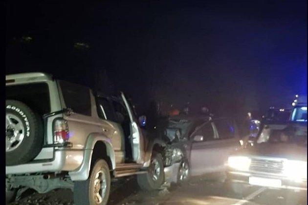 Место аварии в Смоленке