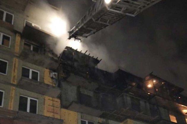 Пожар в 9-этажке