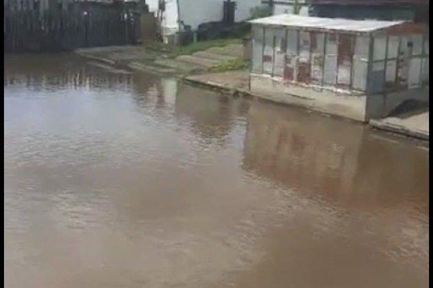 Подтопление дворов в посёлке Кокуй Сретенского района