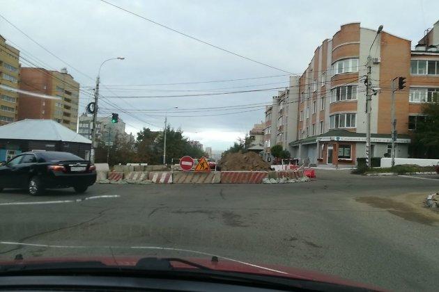 Перекрытие улицы Чкалова