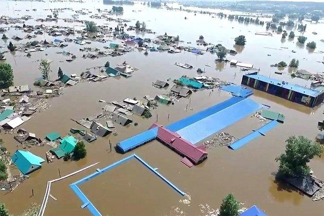 Иркутская область во время наводнения в июне 2019