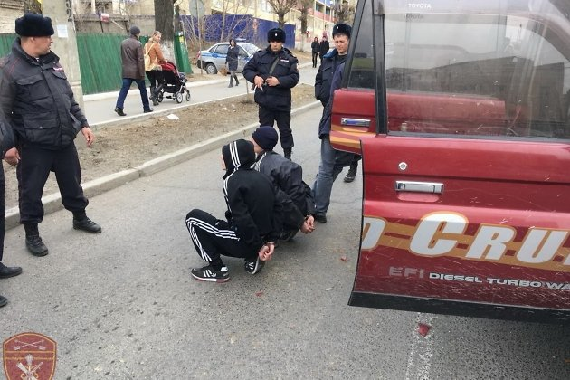 Задержанные грабители банка в Чите