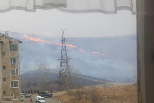 Пожар в Первомайске