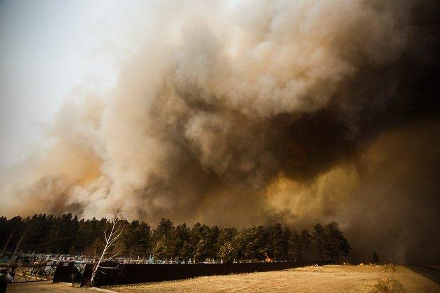 ВЗабайкалье полыхает неменее тысячи гектаров леса