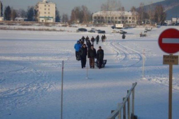 Открыт 1-ый пеший ледовый переход нареке Лена