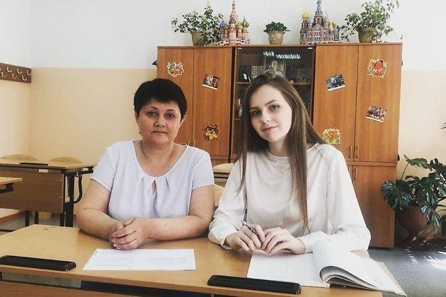 Вероника Головлёва вместе со своим учителем
