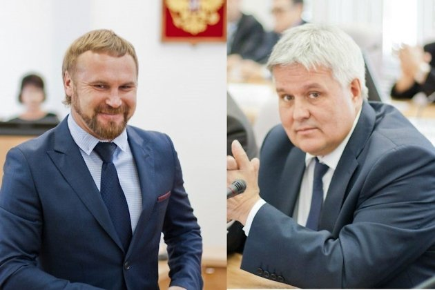 Депутаты заксобрания Забайкалья Роман Щербаков и Андрей Никонов