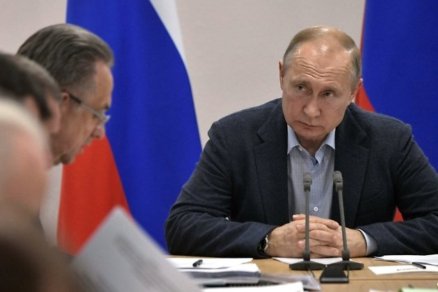 Путин во время совещания 19 июля в Братске