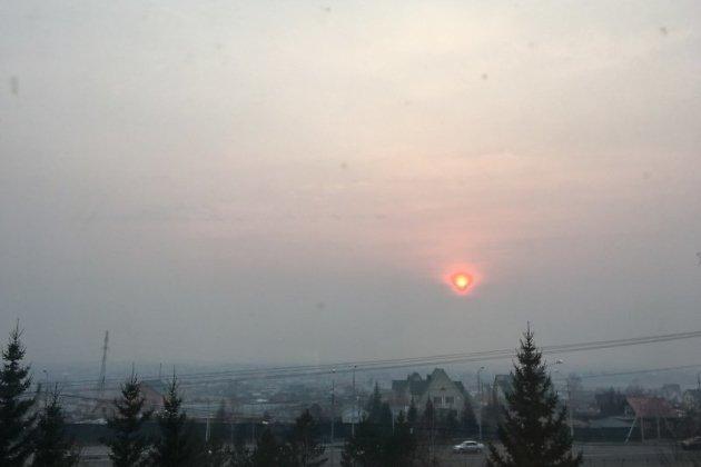 Задымление в Забайкалье от лесных пожаров Якутии