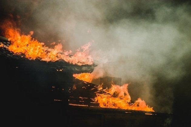 Пожар на улице Подгорной