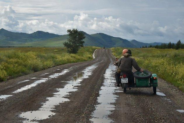 По дороге к селу Алтан, Кыринский район