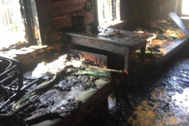 Пожар в жилом доме в Мишелёвке в августе 2019 года