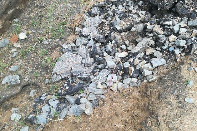 Строительный мусор в лесу СибВО