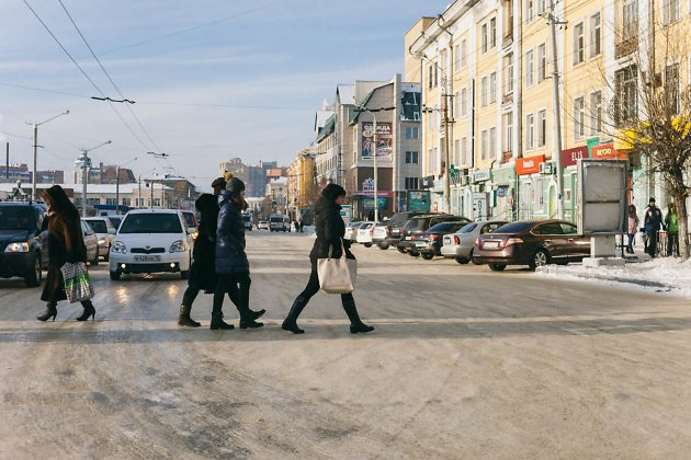 Перекрёсток улиц Ленинградская - Амурская