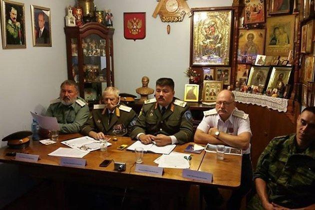 Казаки австралийского посольского отдела Забайкальского казачьего войска