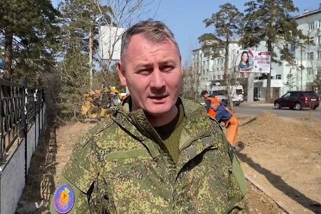 Александ Сапожников на субботнике