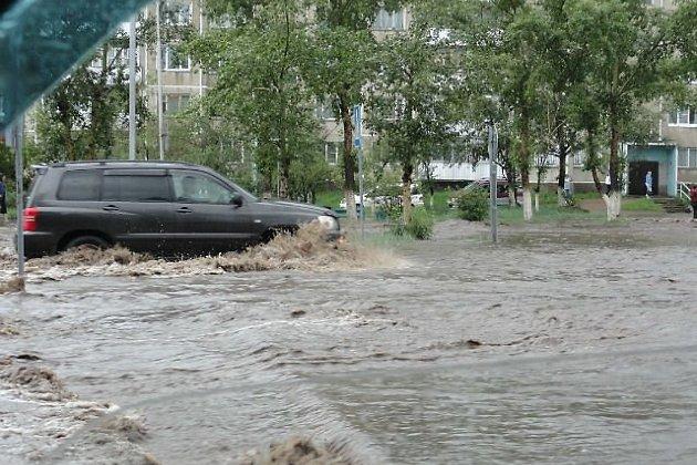 Потоп в Краснокаменске летом 2012 года