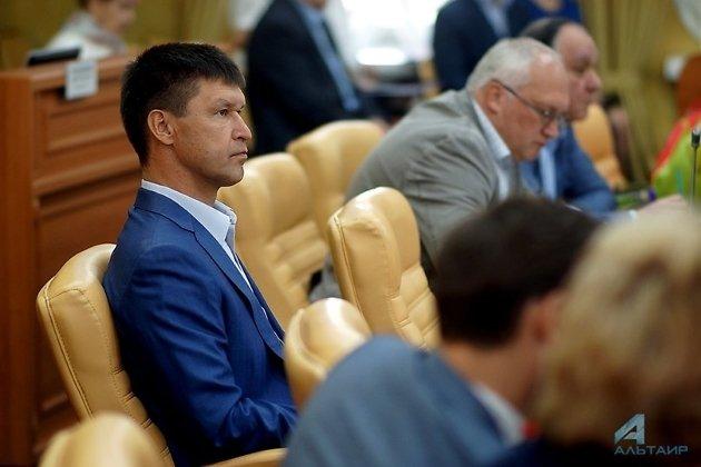 Александр Панько на заседании думы Иркутска