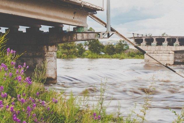 Рухнувший Каштакский мост в Чите