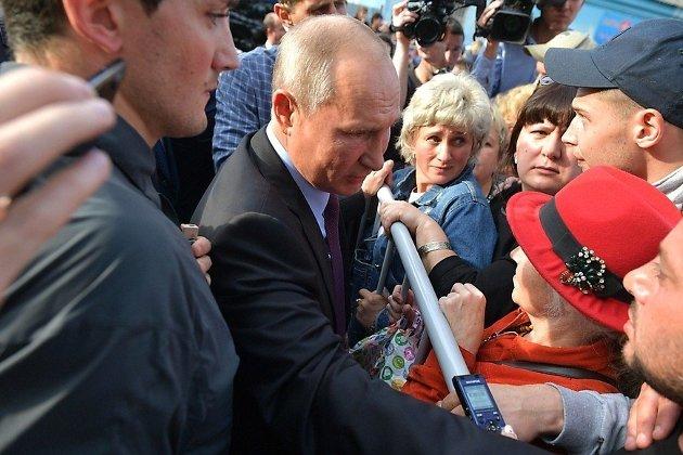 Владимир Путин встретился с жителями Тулуна в сентябре 2019 года