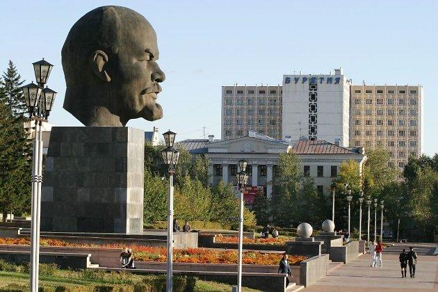 Памятник Ленину в центре Улан-Удэ
