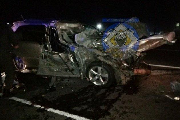 Попавший в ДТП Lexus под Забайкальском