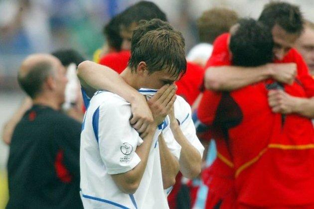 Дмитрий Сычёв после поражения от Бельгии на ЧМ-2002