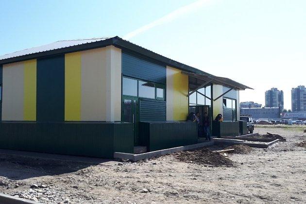 Новое здание Иркутской зоогалереи рядом с рынком