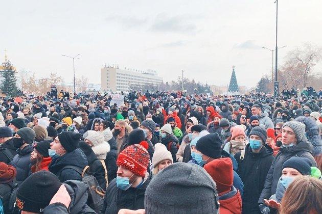 Участники шествия выкрикивали