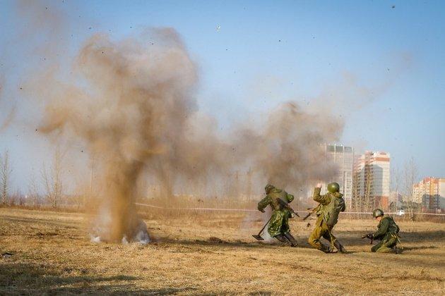 Реконструкция боя в Афганистане
