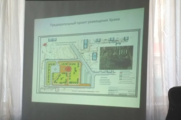 Схема размещения храма