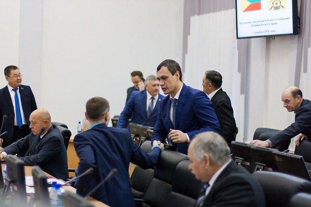 Дмитрий Кочергин в заксобрании Забайкалья