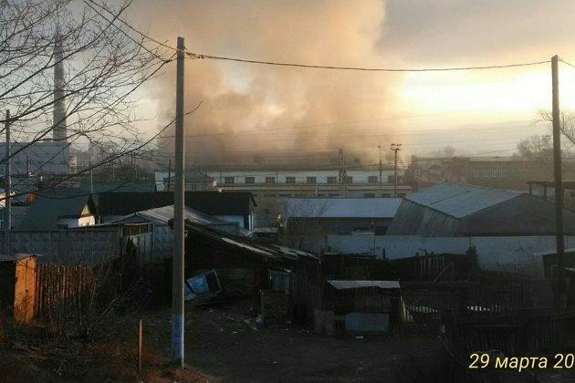 Пожар в районе депо