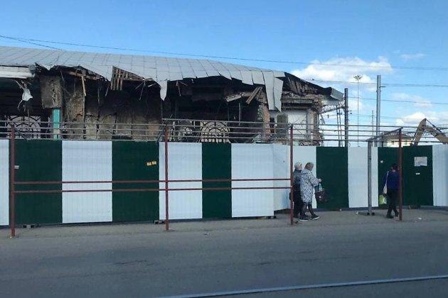 Снос здания пригородных касс иркутского вокзала