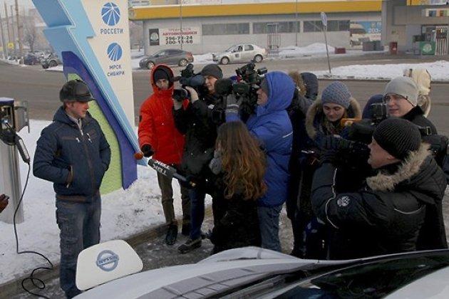 Открытие электрозаправки в Красноярске, 2017 год