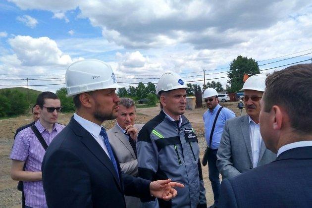 Временно исполняющий обязанности губернатора Забайкальского края Александр Осипов на месте строительства рудника №6 в Краснокаменске