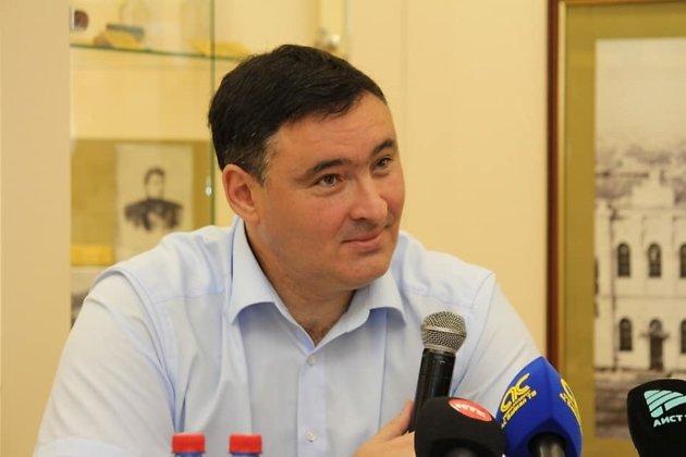 Руслан Болотов на пресс-конференции 11 августа