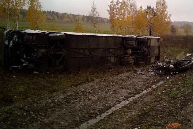 ДТП савтобусом вИркутской области: один человек умер итри ранены