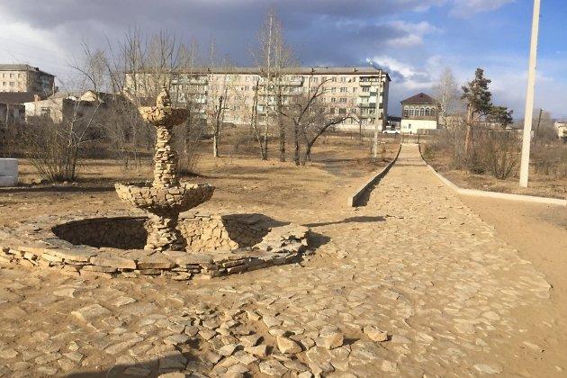 Новый фонтан в парке отдыха г. Нерчинск