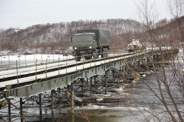 малый автодорожный разборный мост