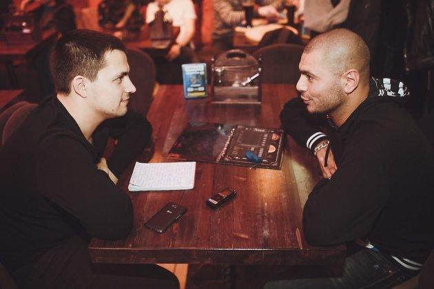На интервью с рэпером Птахой. Январь 2015 г.