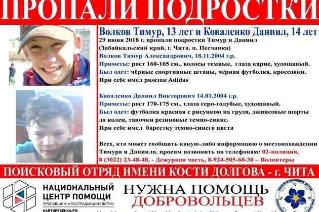Ориентировка на пропавших детей