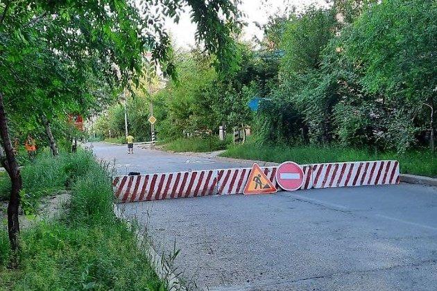 Улица Токмакова перекрыта в Чите