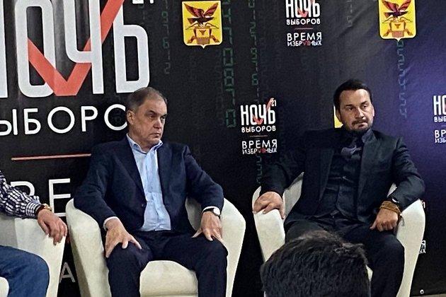 Александр Скачков и Дмитрий Носов на «Ночи выборов» 19 сентября