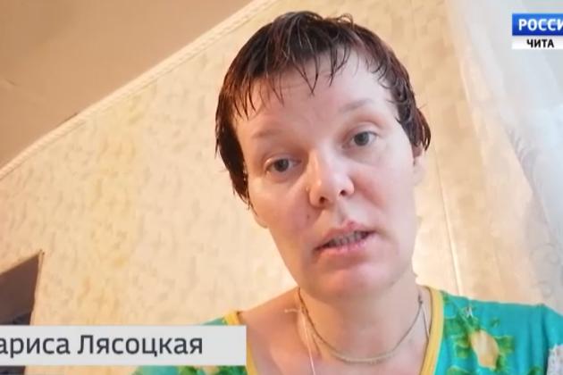 Кадр из обращения Ларисы Лясоцкой к Владимиру Путину