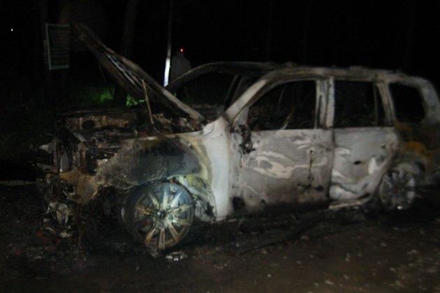 ВИркутске ночью горела иностранная машина