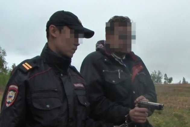 Кадр из следственного действия по делу об убийстве Александра Добрынина