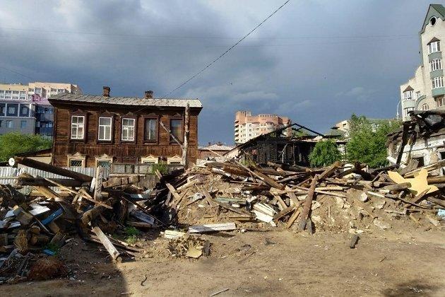 Снос домов на Забрабочего
