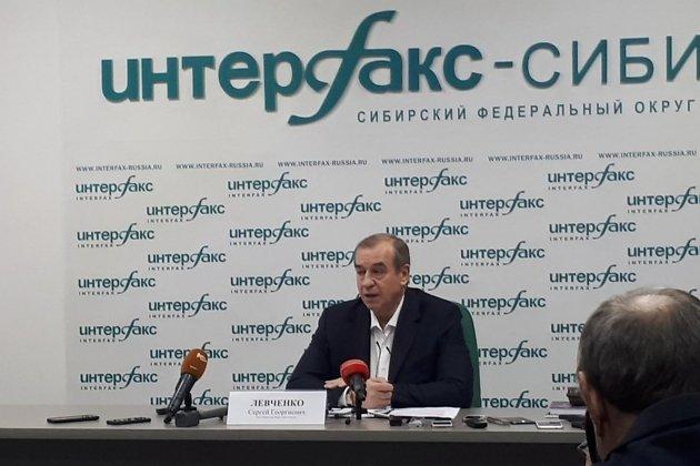 Сергей Левченко на пресс-конференции после своего увольнения с поста губернатора Иркутской области в 2019 году