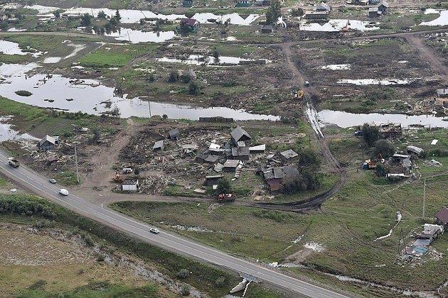 Территории в Иркутской области, пострадавшие от паводка в июне 2019 года